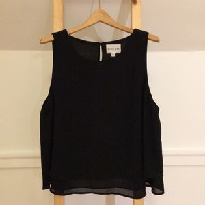 Black Double Lined Tank Top